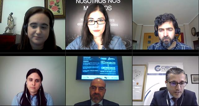 Medio centenar de empresas asisten al webinar sobre el teletrabajo y los ciberriesgos organizado con CEOE-CEPYME Guadalajara